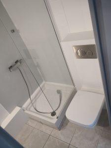 Création WC salle de bain sous pente comble