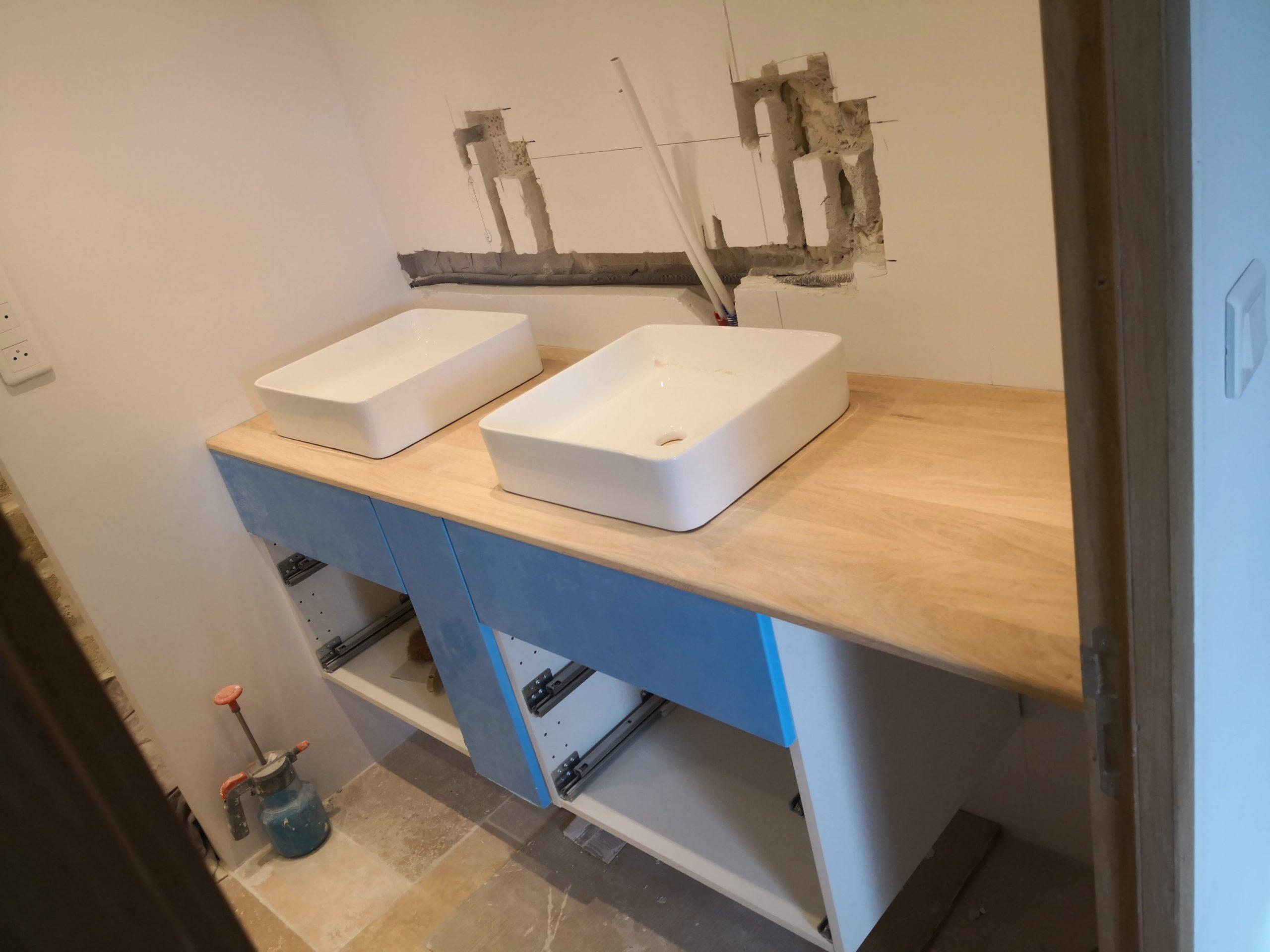Salle de bain en Ikea Hack – Entreprise N.A.C.R.E Rénovation